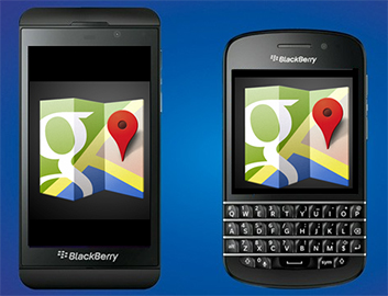Download Google Maps on BlackBerry 10 Here! Features Voice