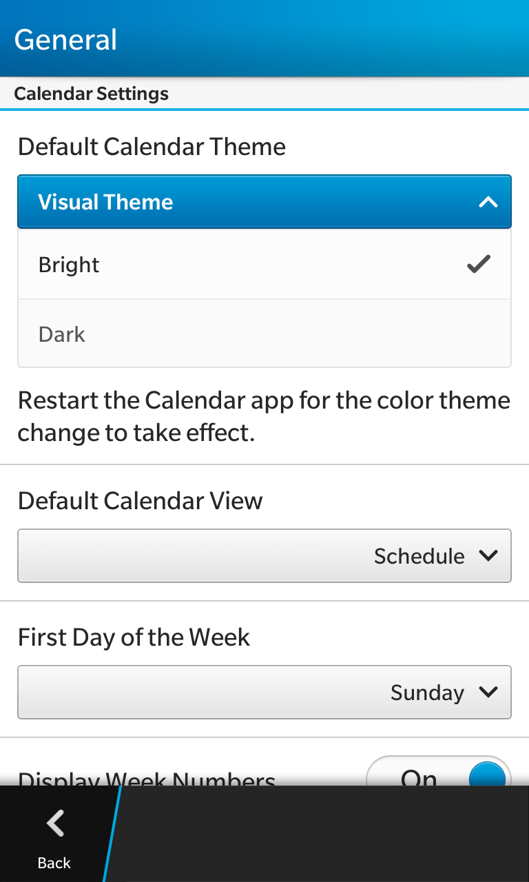 BlackBerry adds Black & Bright themes option for all